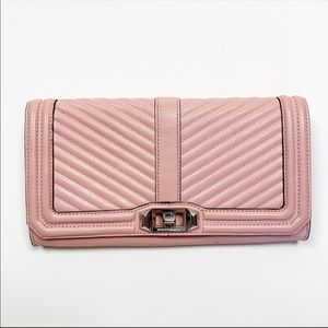 Rebecca Minkoff Love Quilted Clutch Shoulder Bag